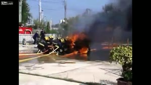 Firefighters get burned during drill
