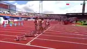 Sexy Swedish Hurdler Faceplant