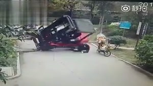 Fork Lifter Driver Crushed