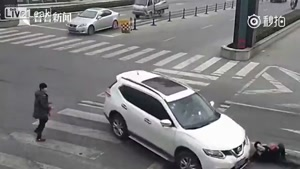 Chick Plows Into Pedestrians